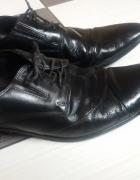 Męskie skórzane eleganckie buty 45