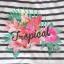 bluzeczka w paski kwiaty napis