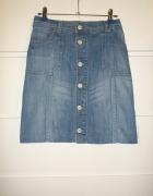 jeansowa trapezowa spódniczka na guziki tumbrl