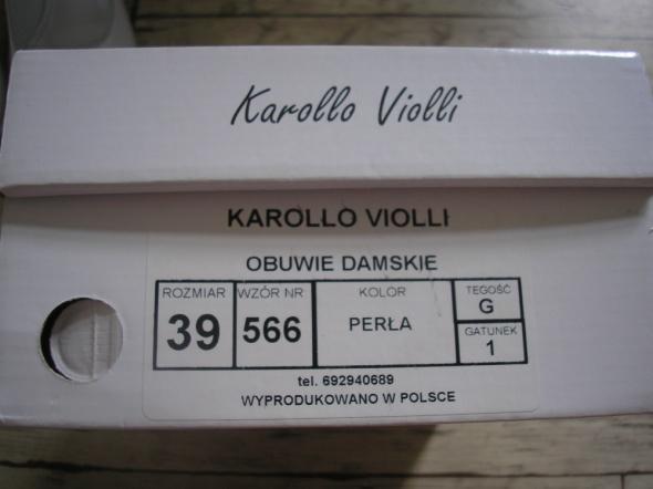 0d60c04a KAROLLO VIOLLI ŚLUB SKÓRA BIAŁE PERŁA ROZ 39 w Buty ślubne - Szafa.pl