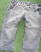 Jeansowe rybaczki wycierane 40 L