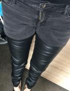 HM jeansy z woskowanymi nogawkami