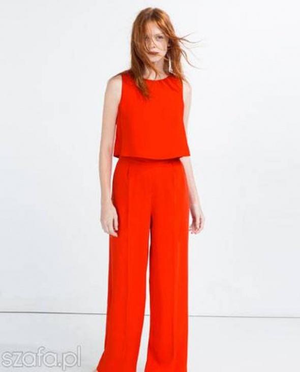 Ubrania kombinezon ZARA czerwony S 36