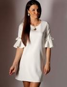 zwiewna kobieca sukienka Vanessa ecru M 38...