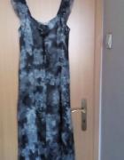 Zwiewna jedwabna sukienka