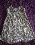H&M sukienka mini tunika S XS panterka IDEAŁ