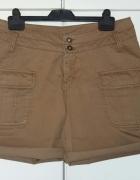 Krótkie spodnie z wysokim stanem KappAhl