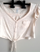 Krótka brzoskwiniowa bluzeczka