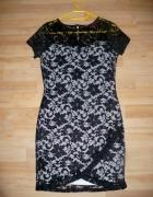 BOOHOO piękna sukienka kopertowa S M