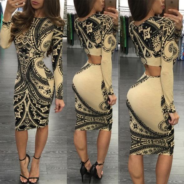 Suknie i sukienki Śliczna dopasowana sukienka wzory