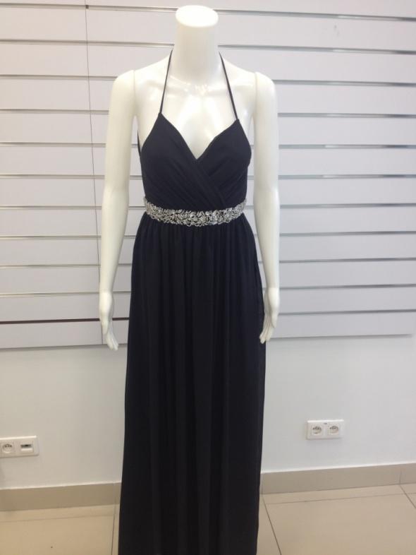 a631fd88f2 Długa elegancka sukienka bez pleców w Suknie i sukienki - Szafa.pl