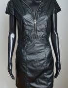 Sukienka ala skórzana mini czarna 36 S