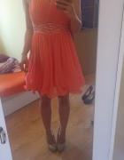 Brzoskwiniowa sukienka new look