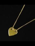 Naszyjnik celebrytka serce pozłacane złoto 24K