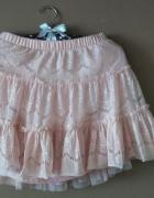 koronkowa spódnica pastelowy róż