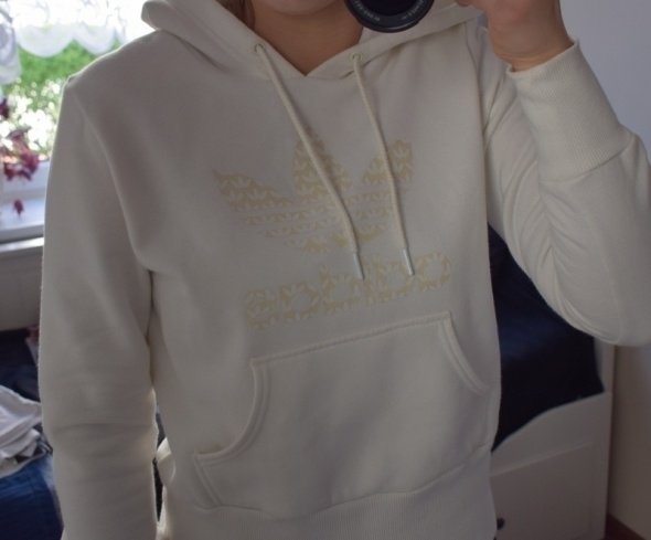 Bluzy bluza adidas originals white biala crop top