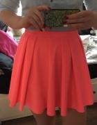 rozkloszowana spódnica mohito neonowy roz