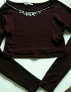 krótki top sweterek