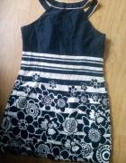 Sukienka tunika graficzna