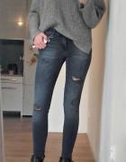 Zara spodnie dziury 34 xs