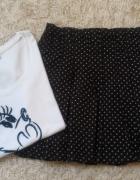 Spódniczka czarna w białe groszki