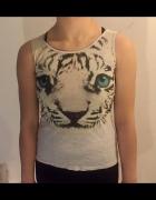Bluzka top z niesamowitym tygrysim nadrukiem