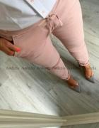 Nowe spodnie baggy pudrowy roz S