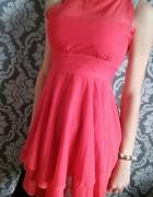 Śliczna czerwona sukienka r 36