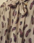koszula z modnym wiązaniem kokarda oversize