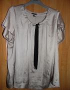 Satynowa bluzeczka bezowa z wiazaniem H&M 52
