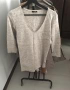 Beżowa melanż bluzka Massimo Dutti