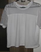 Biała koszulka CROPP