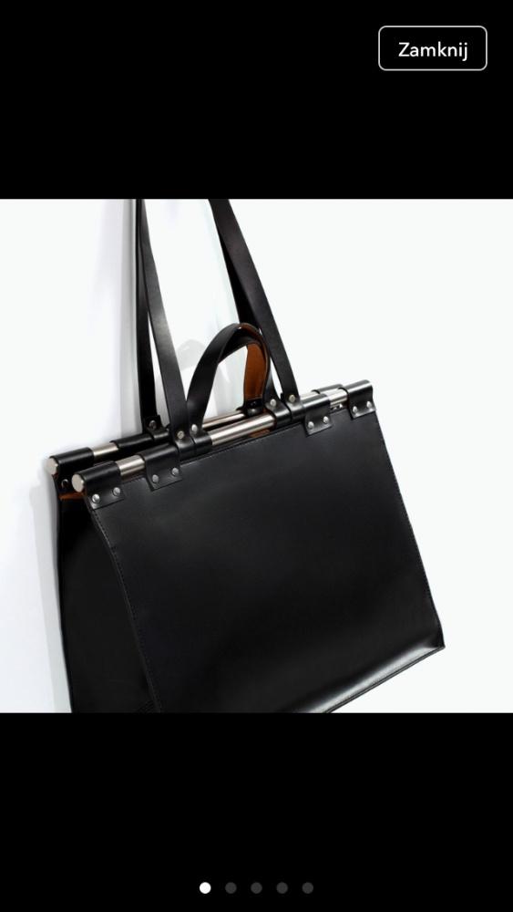 Dodatki torebka zara doctor bag