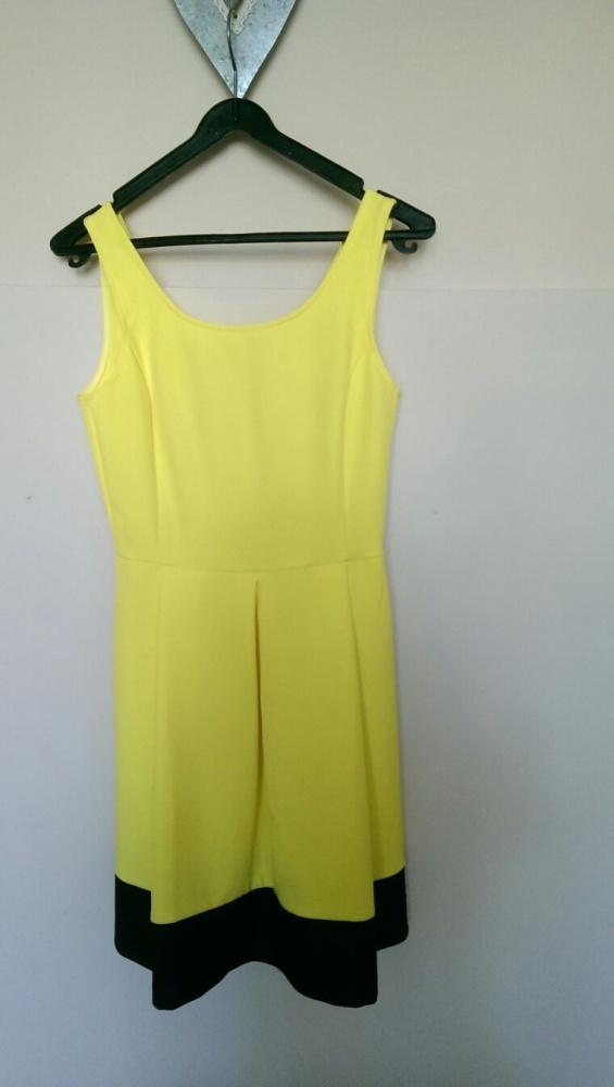 Suknie i sukienki Żółta neonowa sukienka