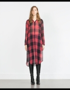 Zara Woman długa koszula kratka blogerska S M HIT