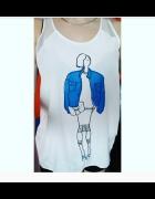 Bluzka bez rękawa Zara