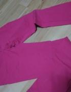 Spodnie różowe jeansy