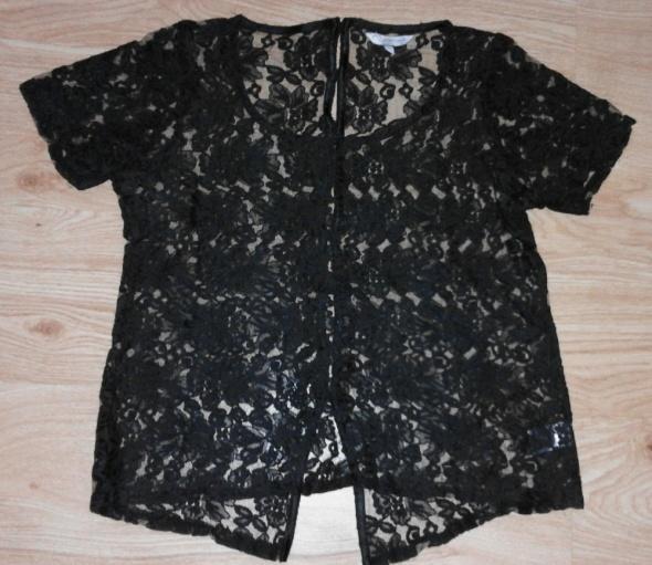 Bluzki Czarna koronkowa bluzka