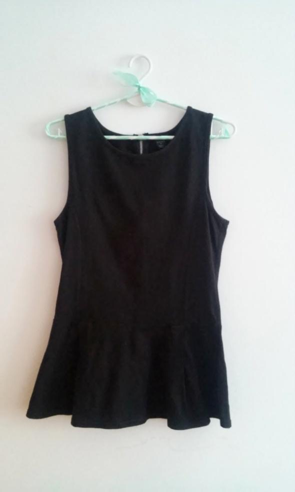Bluzki Czarna bluzka z baskinką M 38 H&M