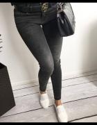 Świetne ciemne jeansy rurki klasyczne XS 38
