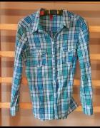 Koszula krata niebieska H&m