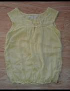 Letnia żółta bluzka Zara