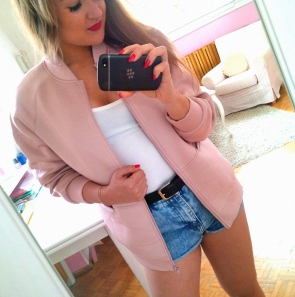 Mój styl różowa bomberka