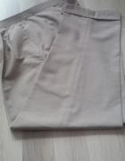 Spodnie beżowe na kant pas 94 cm
