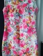 Sukienka floral vintage xs