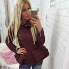 cudna kurtka falbanki jeans