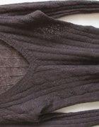 Moherowy brązowy sweterek