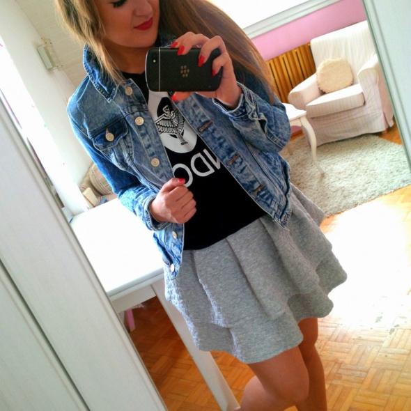 Mój styl jeansowa kurtka