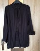 koszula przedluzana czarna