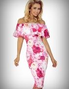 Sukienka hiszpanka kwiaty róż XS S M L XL
